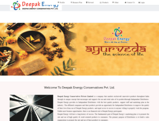 deepakenergy.com screenshot