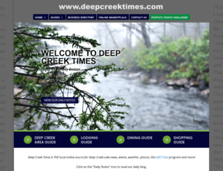 deepcreektimes.com screenshot