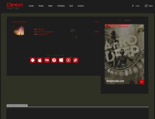 deepinradio.com screenshot