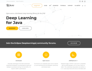 deeplearning4j.org screenshot