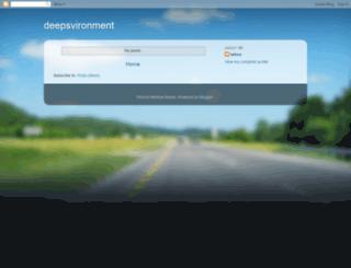 deepsvironment.blogspot.com screenshot
