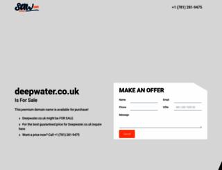 deepwater.co.uk screenshot