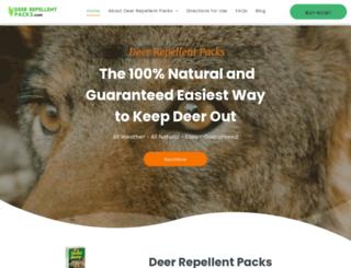 deerrepellentpacks.com screenshot