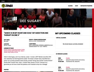 deesugary.zumba.com screenshot