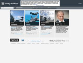 defenceimagedatabase.mod.uk screenshot