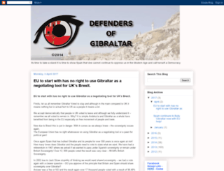 defendersofgibraltar.blogspot.com screenshot