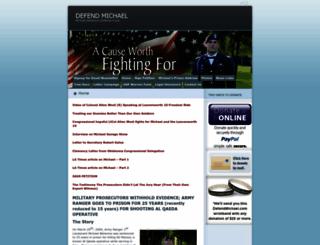 defendmichael.wordpress.com screenshot