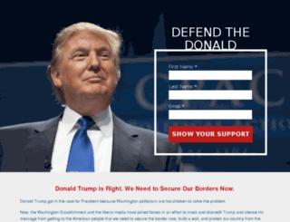 defendthedonald.com screenshot