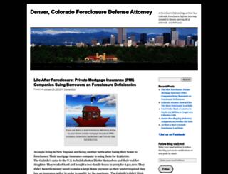 defendyourhomefightforeclosure.wordpress.com screenshot