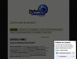 defensadeldeudor.info screenshot