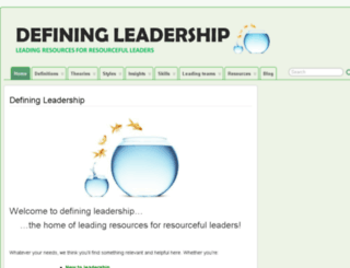 defining-leadership.com screenshot
