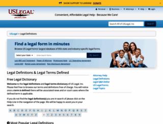 definitions.uslegal.com screenshot
