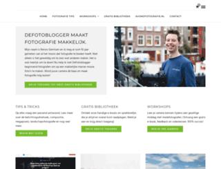 defotoblogger.nl screenshot