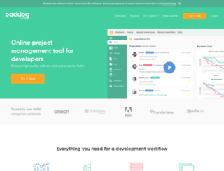 defylogic.backlogtool.com screenshot