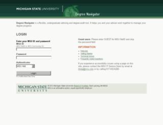 degnav.msu.edu screenshot