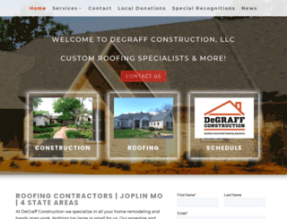 degraffconstructionllc.com screenshot