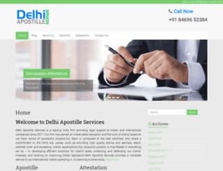 degree-certificate-apostille.delhi-apostille.com screenshot