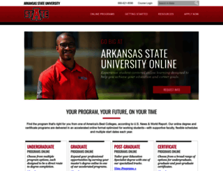 degree.astate.edu screenshot