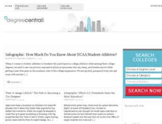 degreecentral.com screenshot