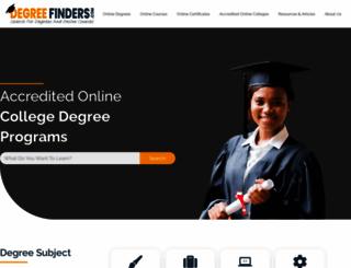 degreefinders.com screenshot