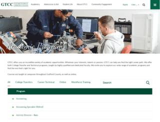 degreeprograms.gtcc.edu screenshot