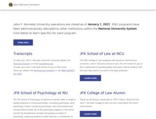 degrees.jfku.edu screenshot