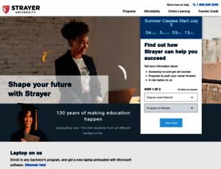 degrees.strayer.edu screenshot