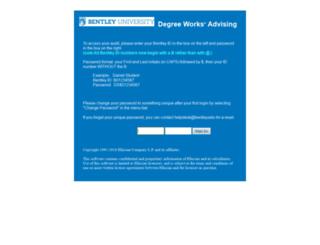 degreeworks.bentley.edu screenshot