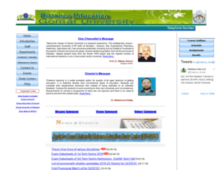 degu.edu.pk screenshot
