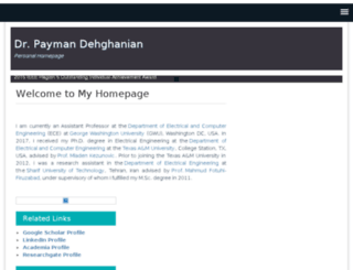dehghanian.net screenshot