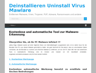 deinstallieren.uninstallvirusmalware.com screenshot