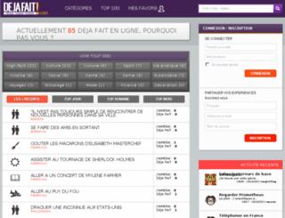 dejafait.com screenshot