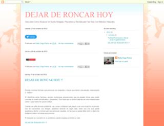 dejarderoncar-hoy.blogspot.com screenshot