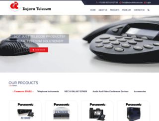 dejavutelecom.com screenshot