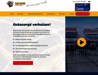 dejongverhuizingen.com screenshot
