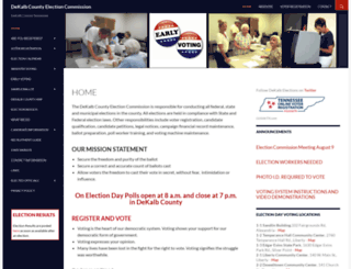dekalbelections.com screenshot