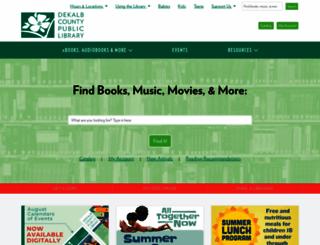 dekalblibrary.org screenshot