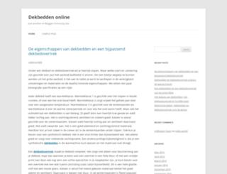 dekbedden.blognhansu.com screenshot