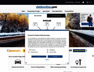 dekkonline.com screenshot