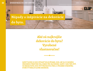 dekoracie-do-bytu.sk screenshot