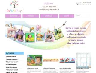 dekoratki.pl screenshot