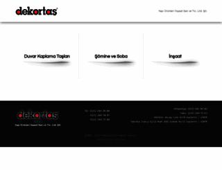 dekortas.com.tr screenshot