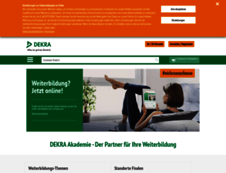 dekra-akademie.de screenshot