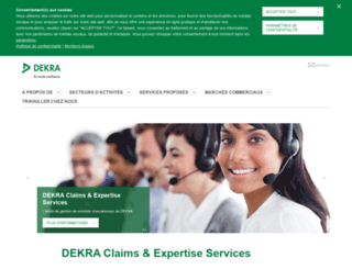 dekra-claims-services.fr screenshot