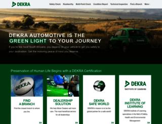 dekraauto.co.za screenshot