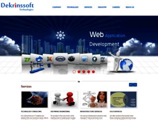 dekrinssofttechnologies.com screenshot