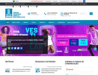 del.ufms.br screenshot