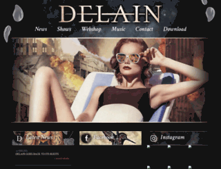 delain.nl screenshot