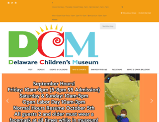 delawarechildrensmuseum.org screenshot