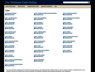 delcode.delaware.gov screenshot